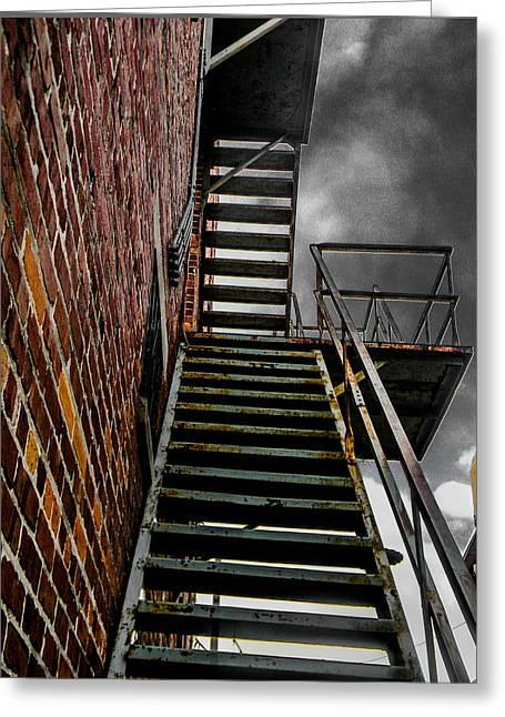 Up Fire Escape Greeting Card