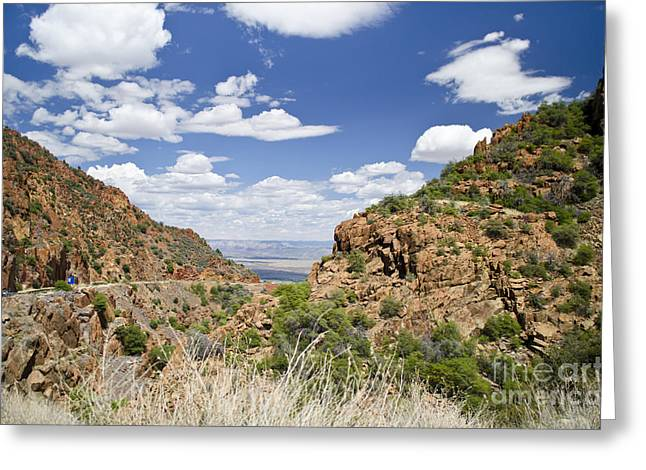 Up From Jerome Arizona Greeting Card