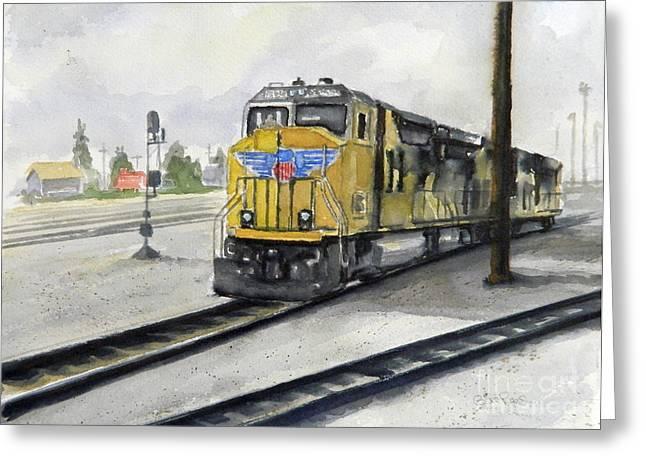 U.p. Locomotive Greeting Card