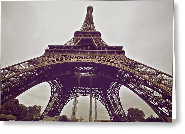 Up The Eiffel Greeting Card