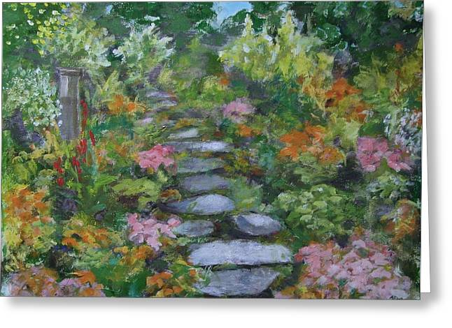 Up The Garden Path Greeting Card