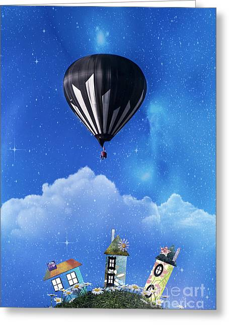 Up Through The Atmosphere Greeting Card by Juli Scalzi