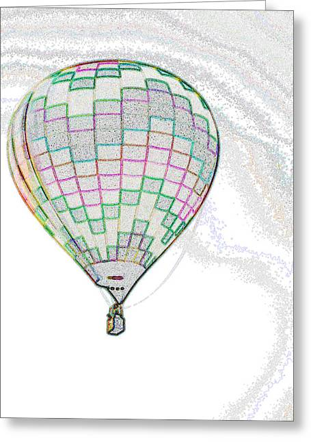 Up Up And Away - Sketch Greeting Card
