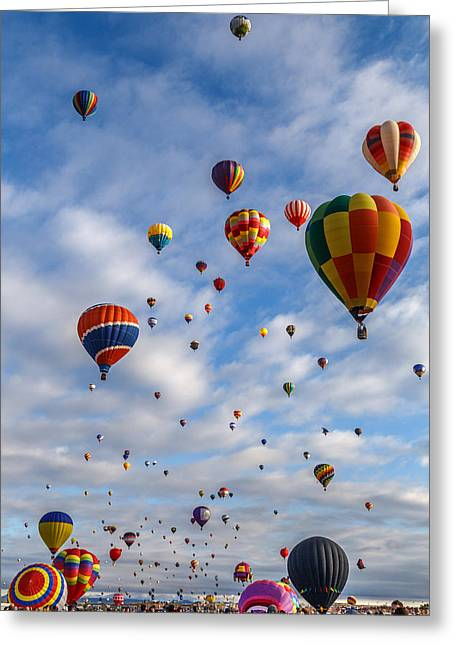Up Up And Away D0220 Greeting Card by Wes and Dotty Weber