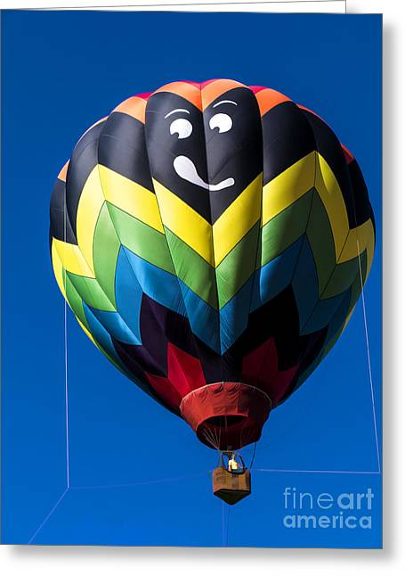 Up Up And Away In My Beautiful Balloon Greeting Card by Edward Fielding
