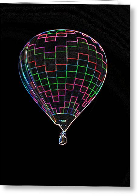 Up Up And Away In Neon Greeting Card