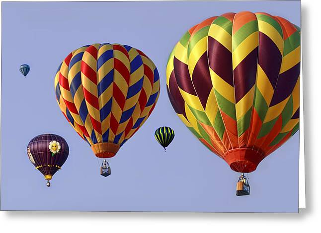 Up Up And Away Greeting Card by Marcia Colelli