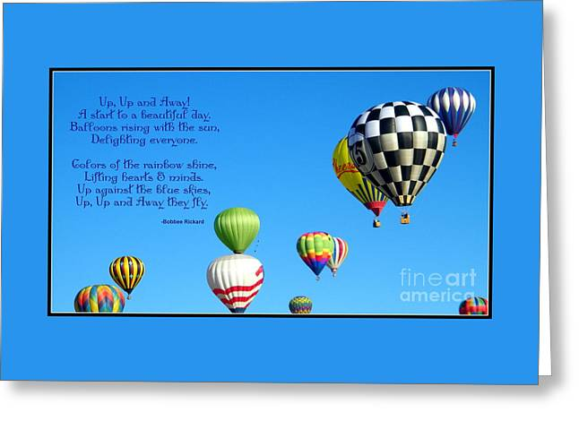 Up Up And Away Poetry Photography Greeting Card