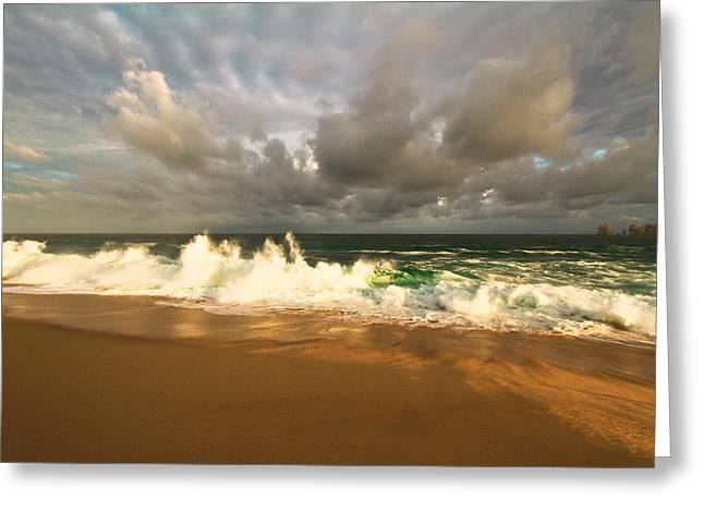 Greeting Card featuring the photograph Upcoming Tropical Storm by Eti Reid