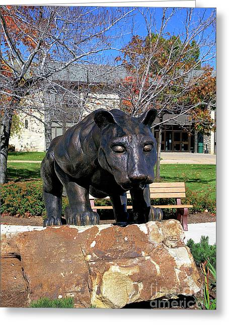 Upj Panther Greeting Card