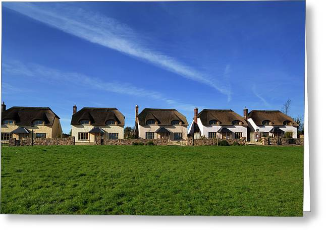 Upmarket Ghost Estate Of Thatched Greeting Card by Panoramic Images
