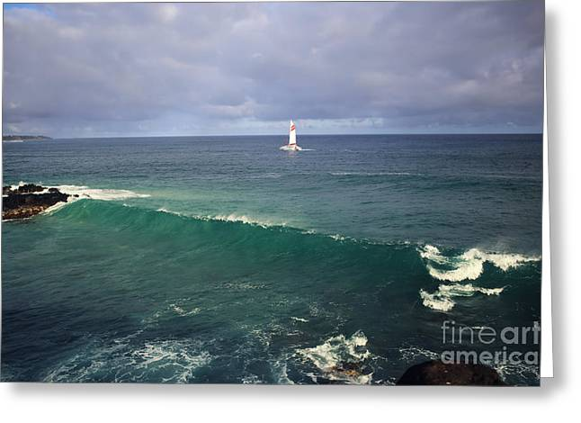 Upon A Wave Greeting Card by Deena Otterstetter