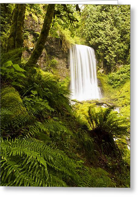 Upper Bridal Veil Falls 1 Greeting Card