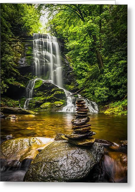 Upper Catabwa Falls Greeting Card by Serge Skiba