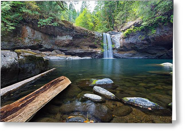 Upper Coquille Falls Greeting Card by Robert Bynum