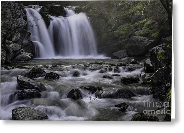 Upper Crystal Creek Falls  Greeting Card