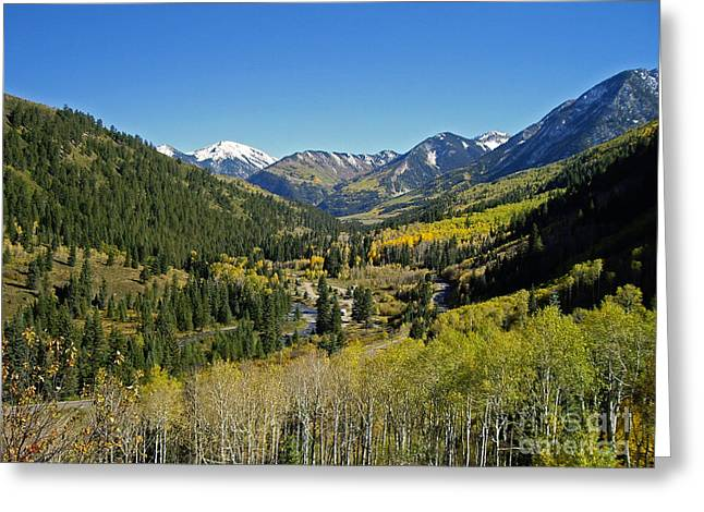 Greeting Card featuring the photograph Upper Crystal River Valley by Eric Rundle