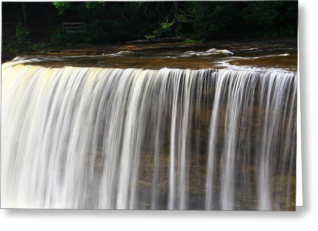 Upper Falls At Tahquamenon Falls State Park Greeting Card