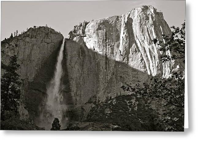 Upper Yosemite Falls Composition In Triangles Greeting Card