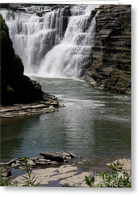 Upper Falls Letchworth State Park Greeting Card by Christiane Schulze Art And Photography