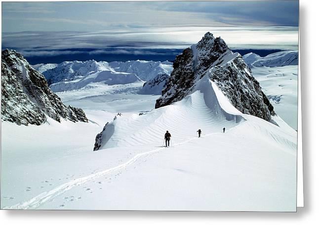 Upper Fox Glacier Westland Np New Greeting Card