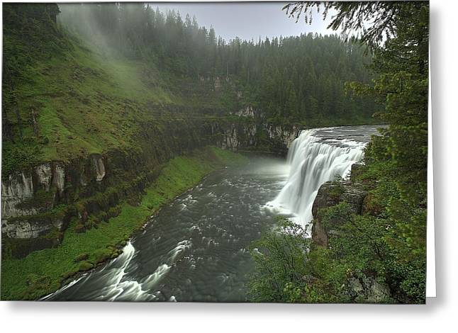 Upper Messa Falls Greeting Card