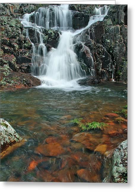 Upper Mina Sauk Falls In Missouri Ozarks Greeting Card by Greg Matchick