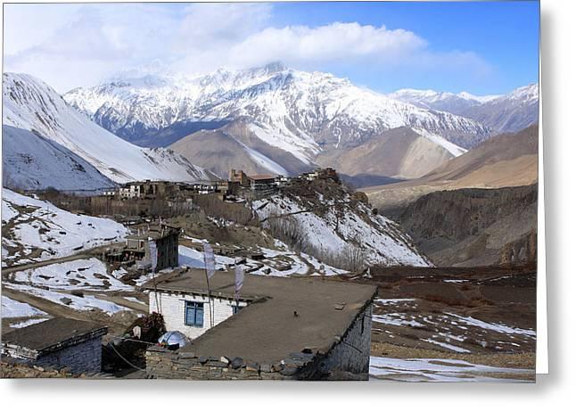 Upper Mustang, The Himalaya, Nepal Greeting Card