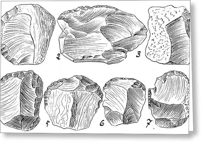 Upper Paleolithic Scrapers, Illustration Greeting Card