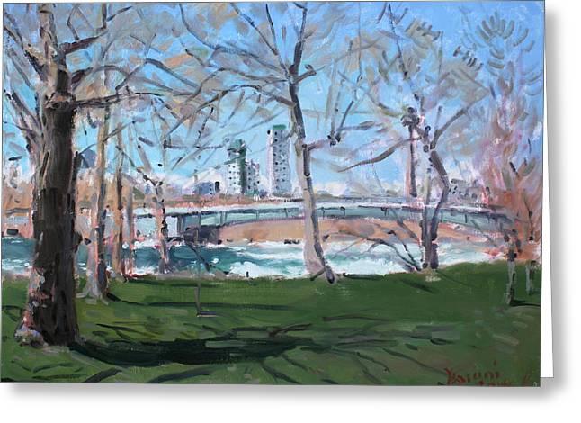 Upper Rapids Of Niagara Falls Ny Greeting Card by Ylli Haruni