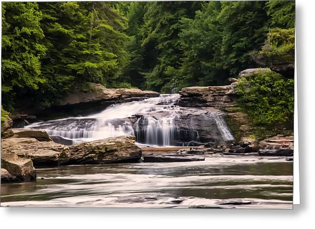 Upper Swallow Falls  Greeting Card
