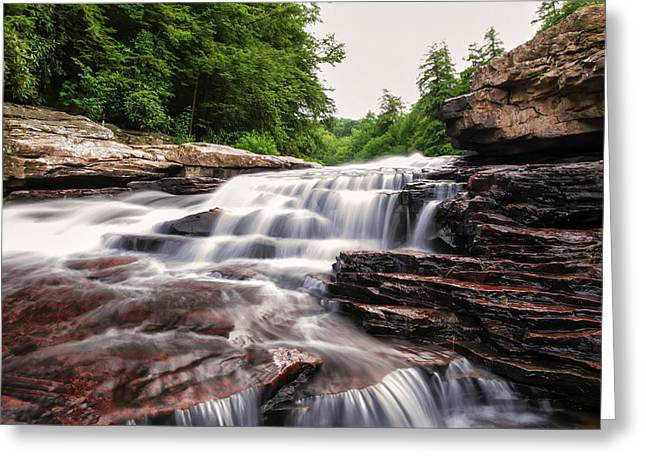 Upper Swallow Falls Close Up Greeting Card