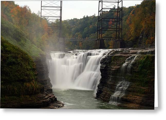 Upper Waterfalls Greeting Card by David Simons