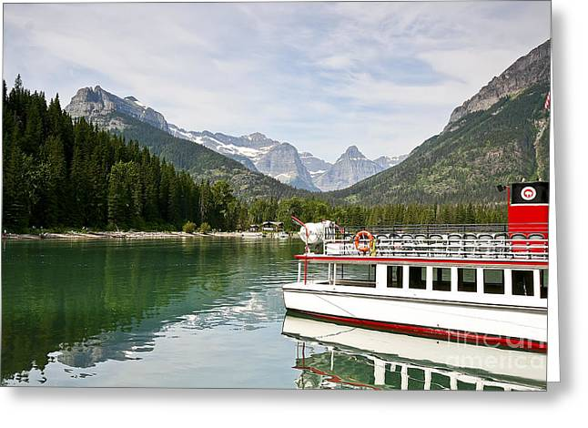 Upper Waterton Lakes Greeting Card by Teresa Zieba