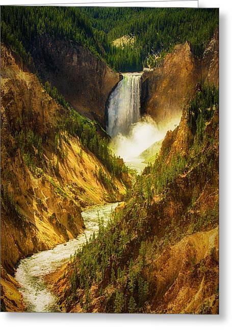 Upper Yellowstone Greeting Card by Stuart Deacon