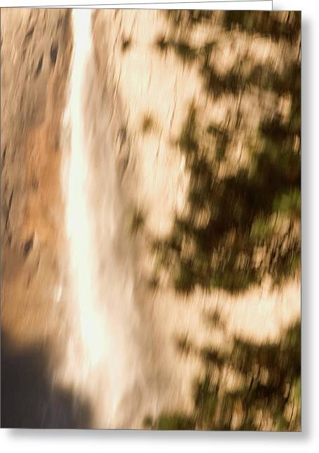 Upper Yosemite Fall In Yosemite Valley Greeting Card by Phil Schermeister
