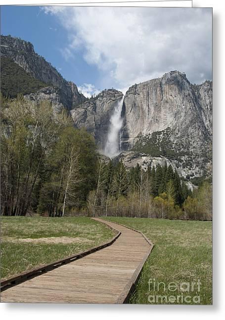 Upper Yosemite Falls Greeting Card by Juli Scalzi