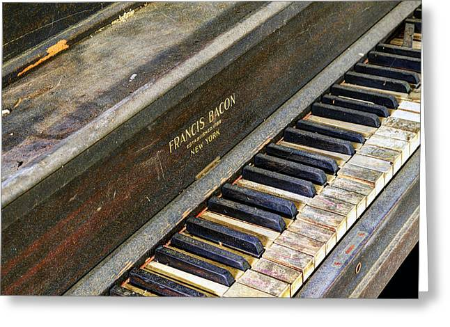 Upright Piano Greeting Card