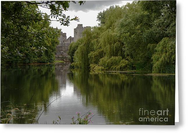 Greeting Card featuring the photograph Upriver From Cahir Castle by Winifred Butler