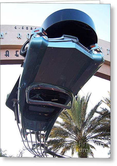 Upside Down Car Greeting Card