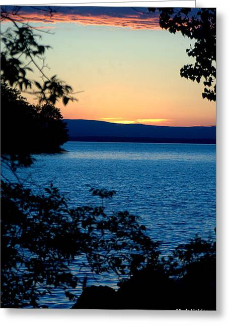 Upstate Ny Sunset  Greeting Card by Mark Holden