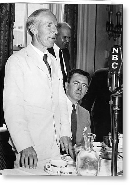 Upton Sinclair At Press Club Greeting Card