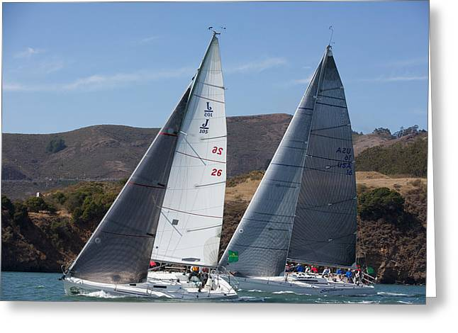 Upwind To The Gate Greeting Card by Steven Lapkin