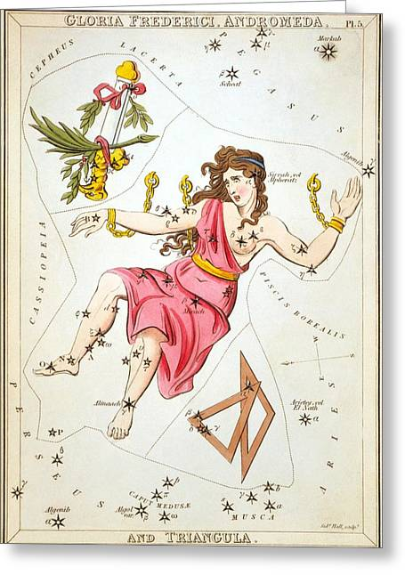 Gloria Frederici Andromeda Greeting Card by Celestial Images