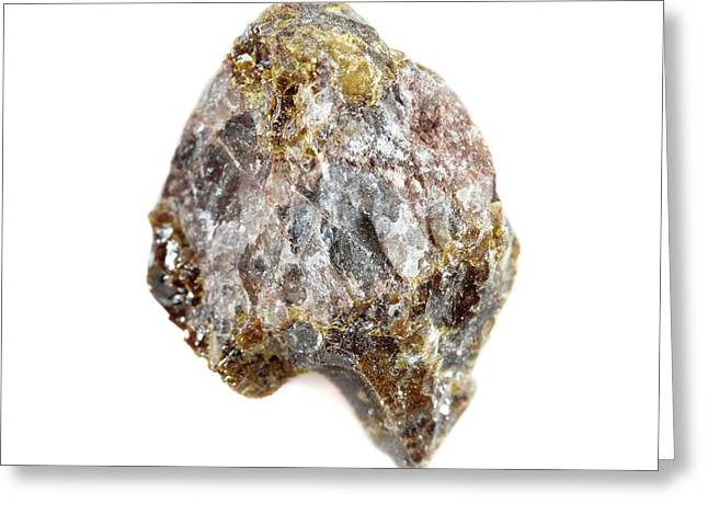 Uraninite Greeting Card by Science Photo Library