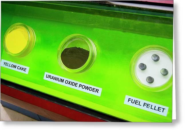 Uranium Fuel Preparation Greeting Card