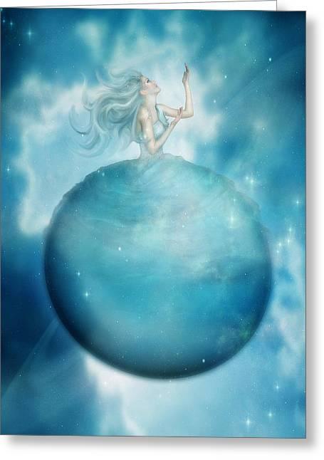 Uranus Greeting Card by Mary Hood
