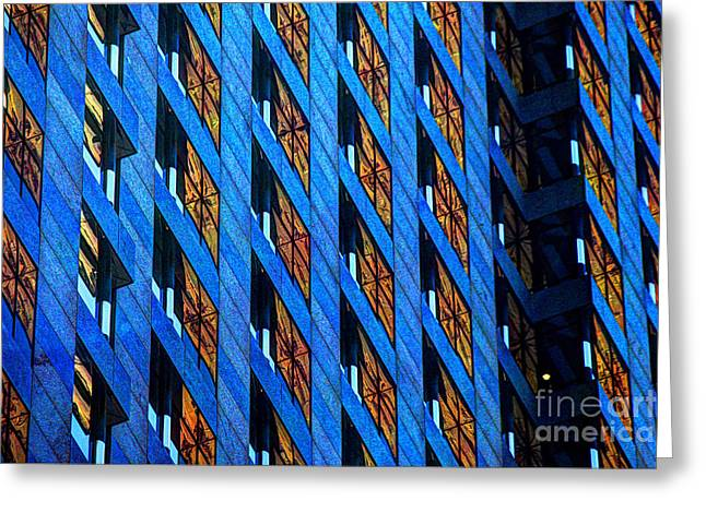 Urban Abstract 4 Greeting Card by Jim Wright