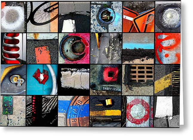 Urban Abstracts Top 24 Greeting Card