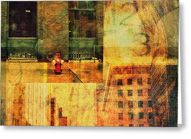 Urban Collage Greeting Card